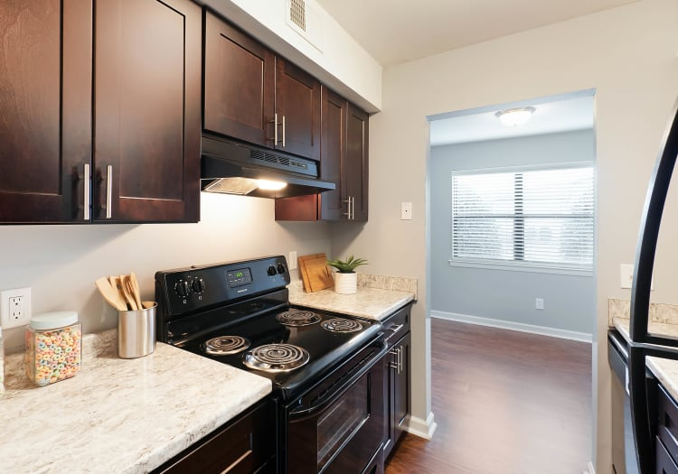 Spacious rooms with hardwood floors at Northshore Flats in Chattanooga, Tennessee