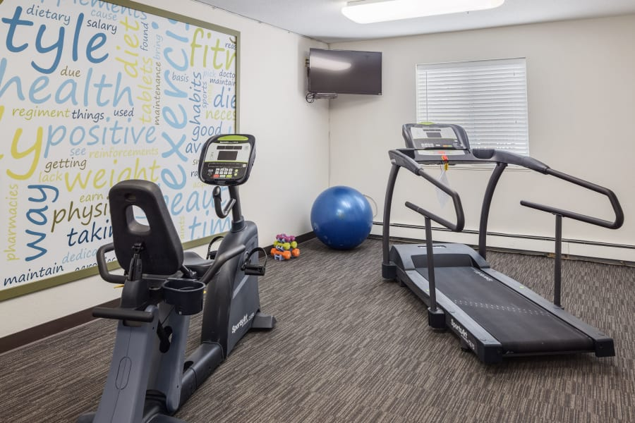 Exercise equipment at Parkside of Livonia in Livonia, Michigan