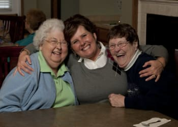 Residents enjoying time together at Lakeland Senior Living