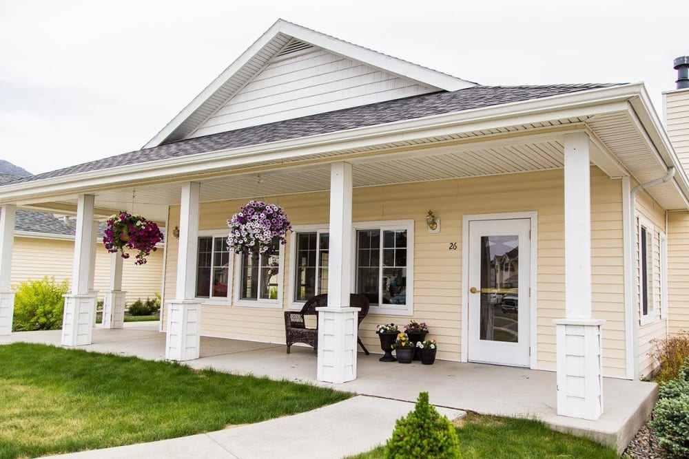 Quaint and comfortable porch at The Springs at Butte in Butte, Montana