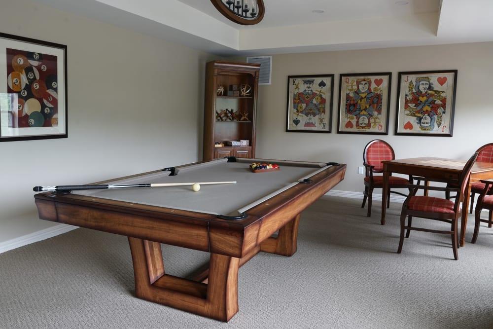 Billiards at Harmony at Morgantown in Morgantown, West Virginia