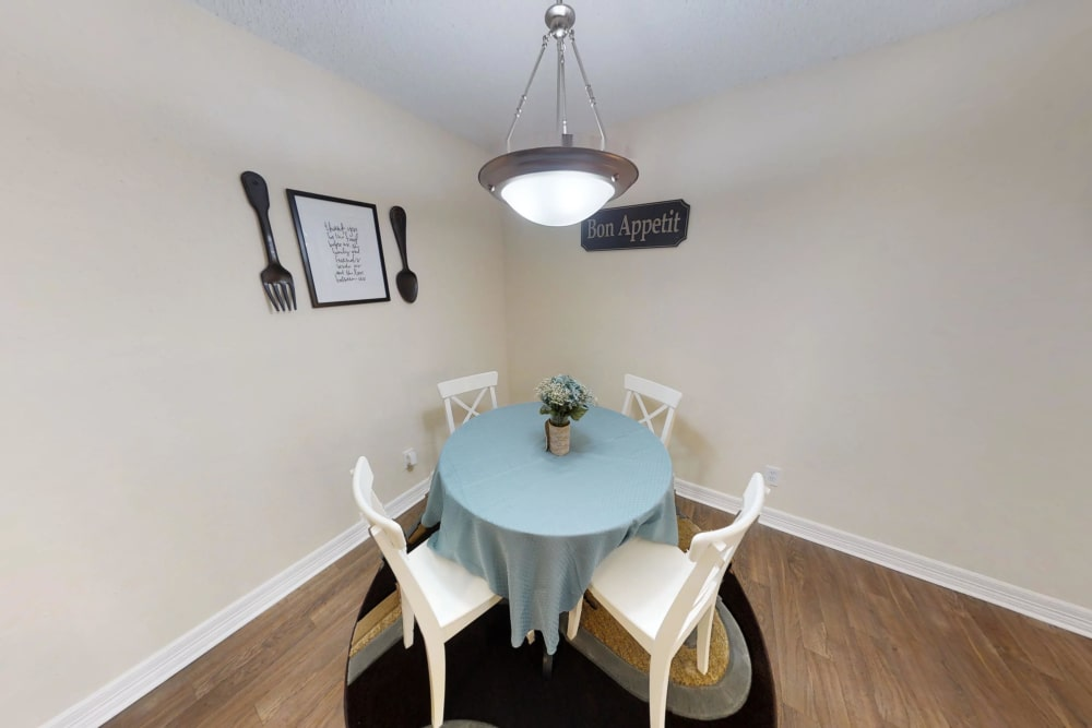 Westwood Village Apartments offers a cozy dining room in Rosenberg, TX