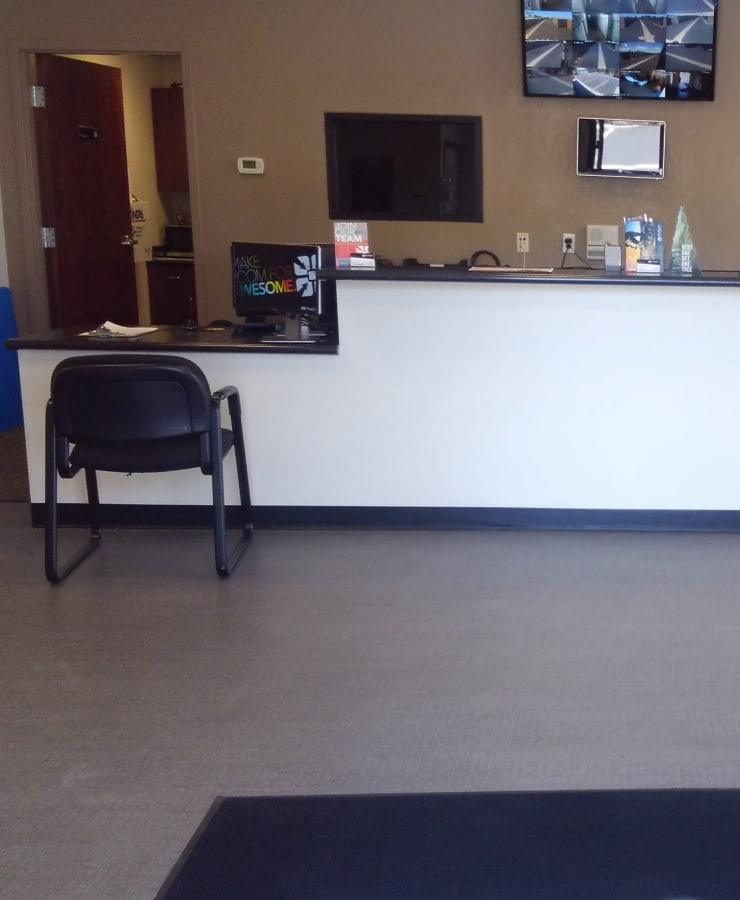 Interior of the leasing office at StorQuest Self Storage in Sun City, Arizona