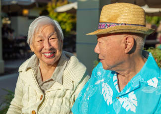 Couple laughing at senior living in Campbell