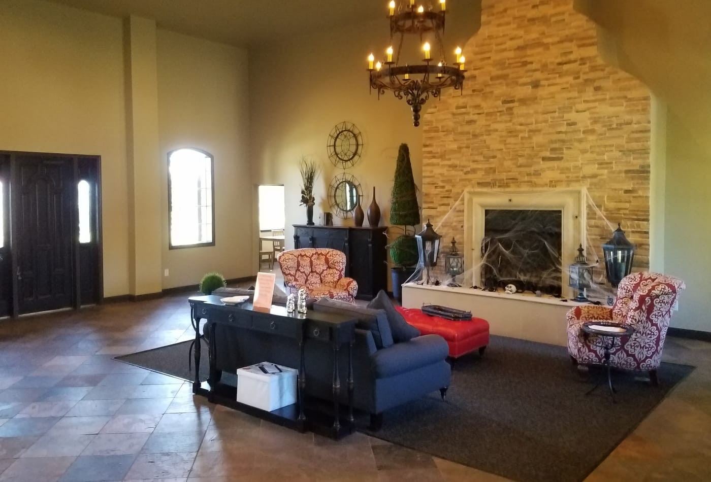 Beautiful fireplace at Trails at Corinthian Creek in Jersey Village