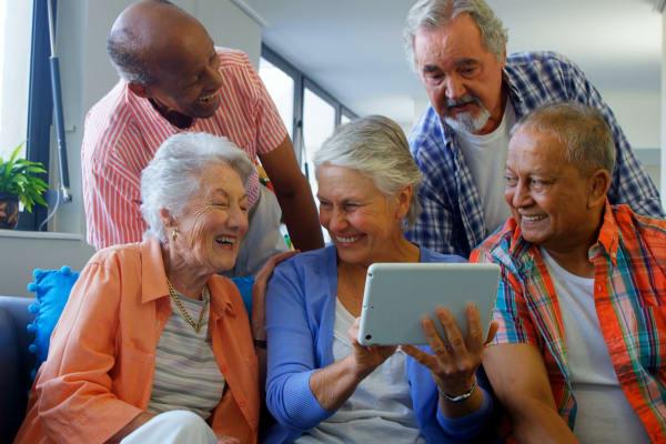 Happy residents at Radiant Senior Living
