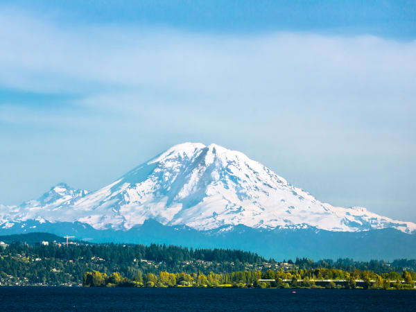 Mt. Rainier near Mission Healthcare at Renton in Renton, Washington.