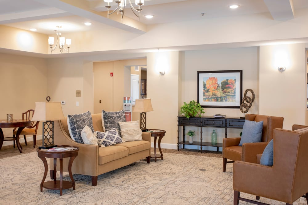 The lobby at The Harmony Collection at Columbia in Columbia, South Carolina