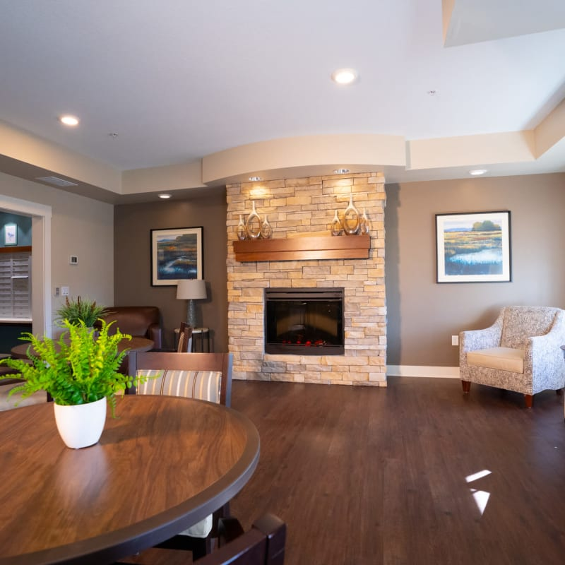 Modern living rooms offered at The Sanctuary at St. Cloud in St. Cloud, Minnesota