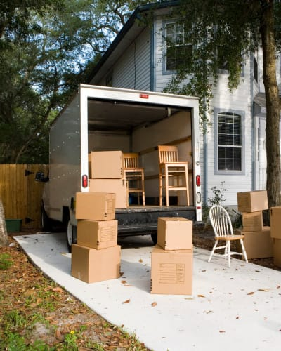 Moving Truck at Neighborhood Storage in Belleview, Florida