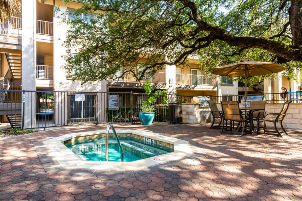 Hot tub at Marquis at Ladera Vista in Austin, Texas