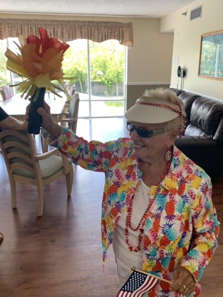 Barkley Place residents held the torch high and proud during each leg of the passing of the torch ceremony.