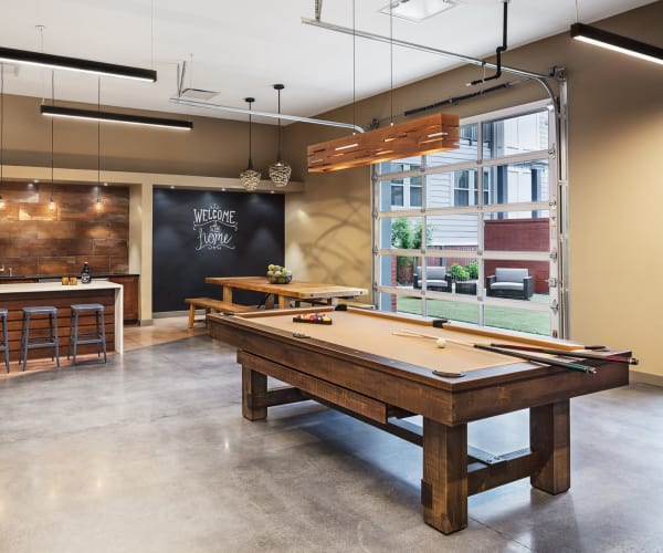 Game room in Station 40's clubhouse in Nashville, Tennessee