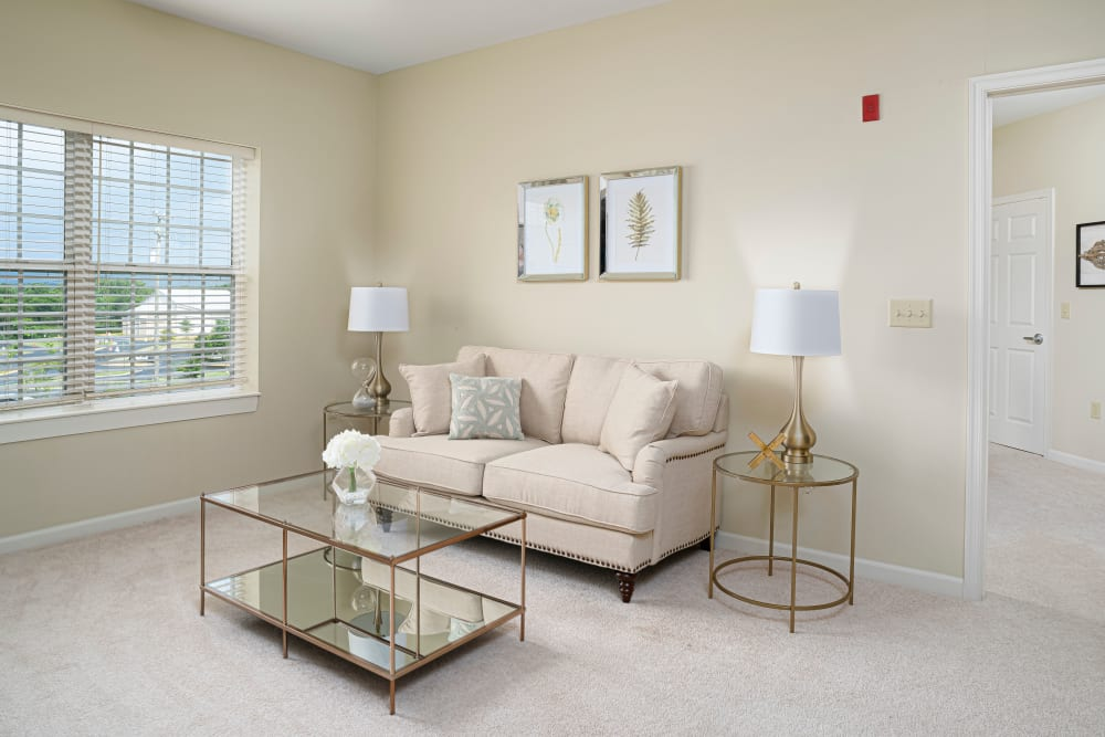 Living room at Harmony at Chantilly in Herndon, Virginia