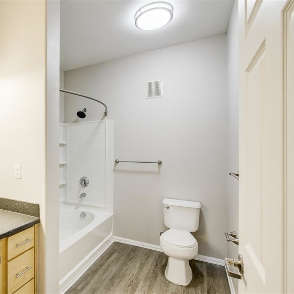 Bathroom at Capitol Place Apartments in West Sacramento, California
