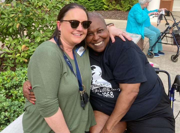 Madison team members and residents enjoy each others company during their huge celebration!