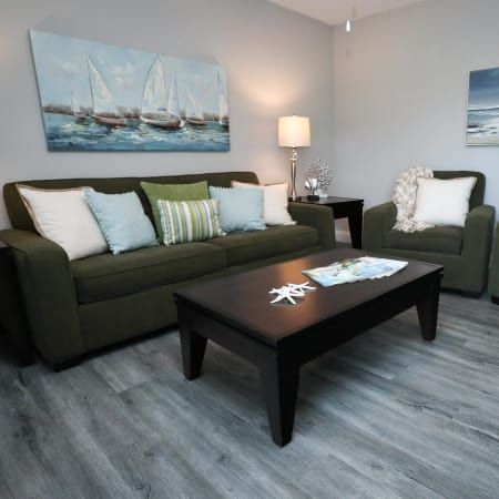 Model living room at Ridgeview