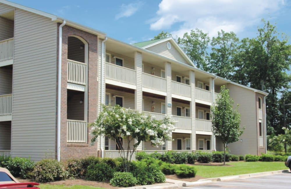 Beautiful exterior at Station 153 Apartment Homes in Anderson, South Carolina