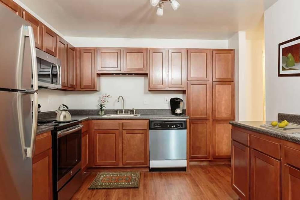 Beautifully designed kitchen at Meadowbrook Apartments in Slingerlands, New York