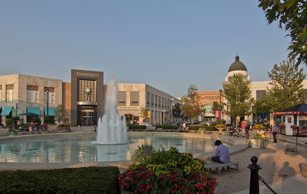 Downtown Columbus, Ohio near Easton Commons