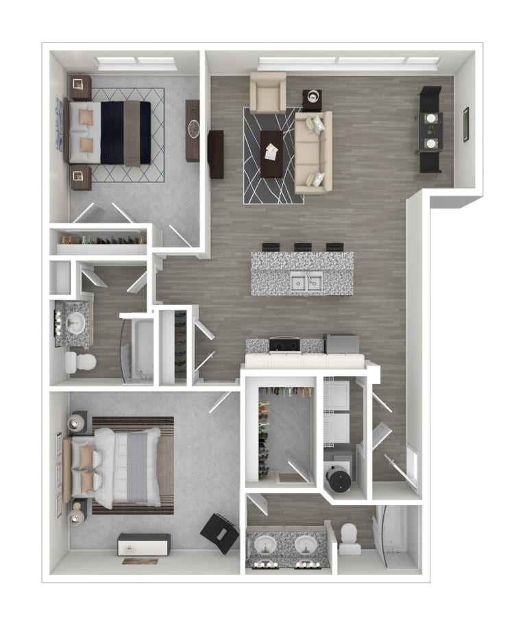 Unit 207 floor plan at lCallio Propertiesin Chattanooga, Tennessee