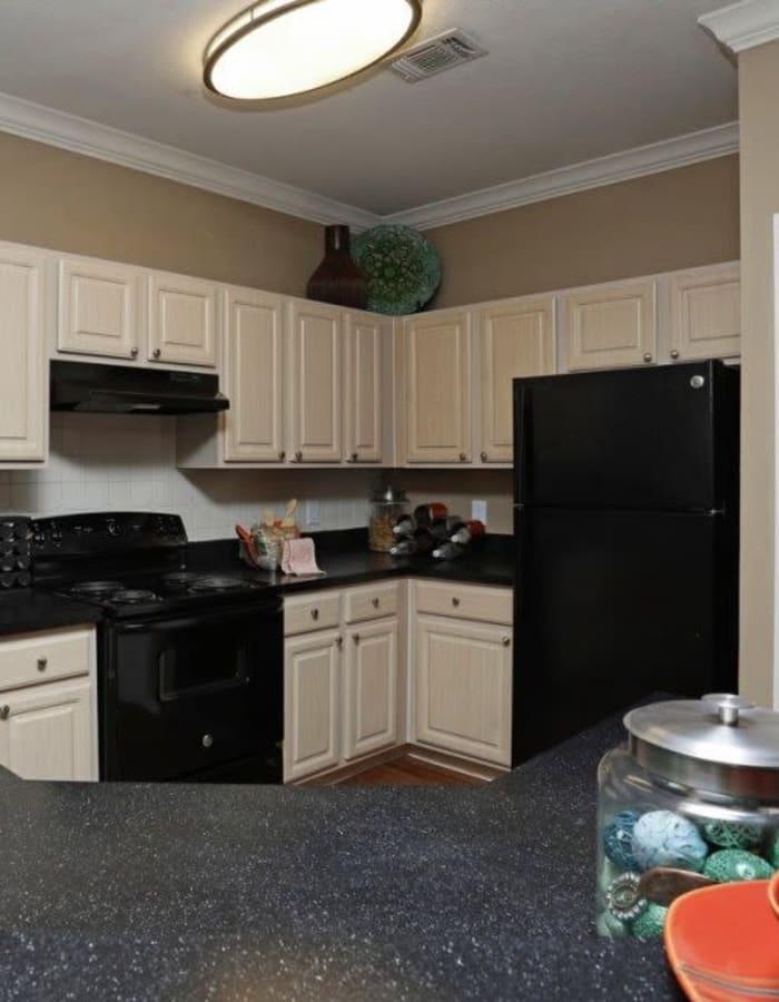 Upgraded kitchen at Amara at MetroWest in Orlando, Florida