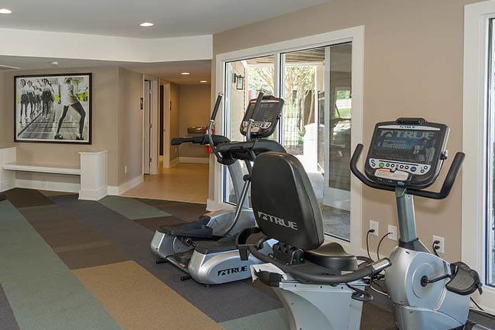 A spacious community gym at Residences at Belmont in Fredericksburg, Virginia