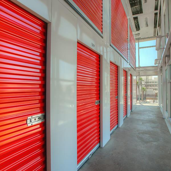 Indoor units with red doors at StorQuest Self Storage in Chandler, Arizona