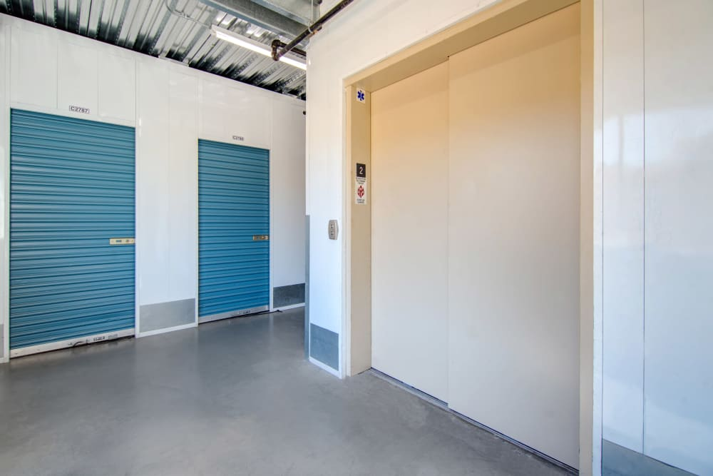 Convenient elevator access at Jamacha Point Self Storage