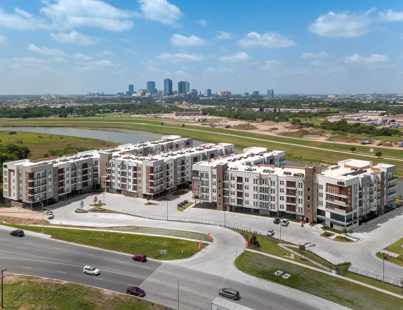 Aerial view of Shelby at Northside in Fort Worth, Texas