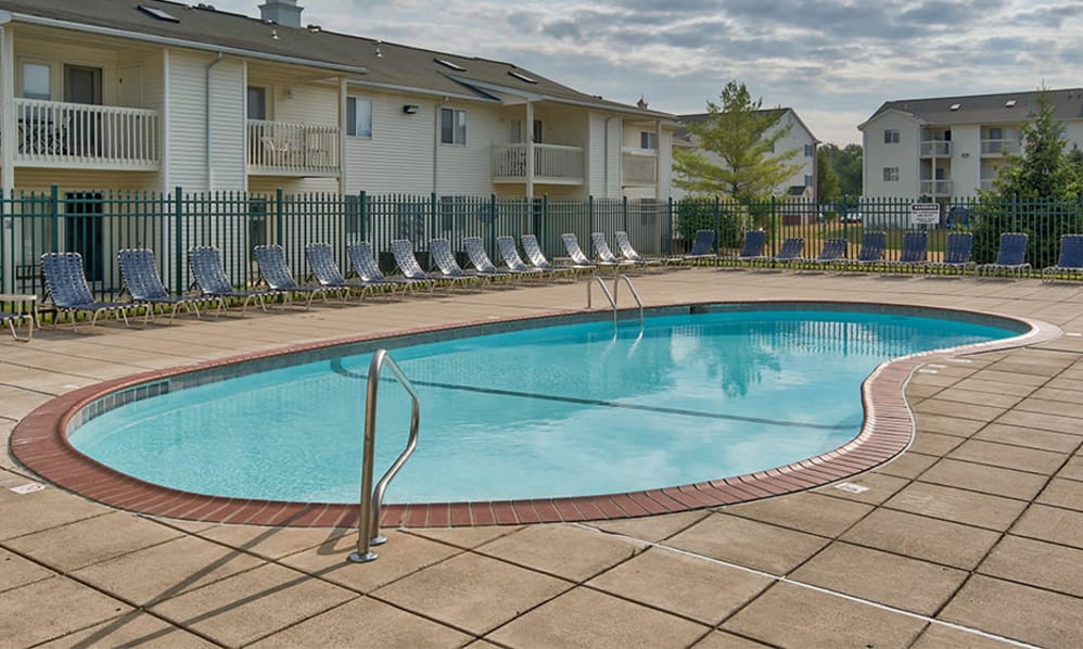 Swimming pool at Steeplechase Apartments & Townhomes in Toledo, Ohio