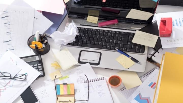 office organization tips for a messy desk