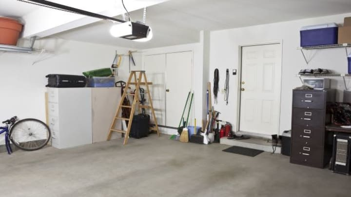 garage storage with various items in it