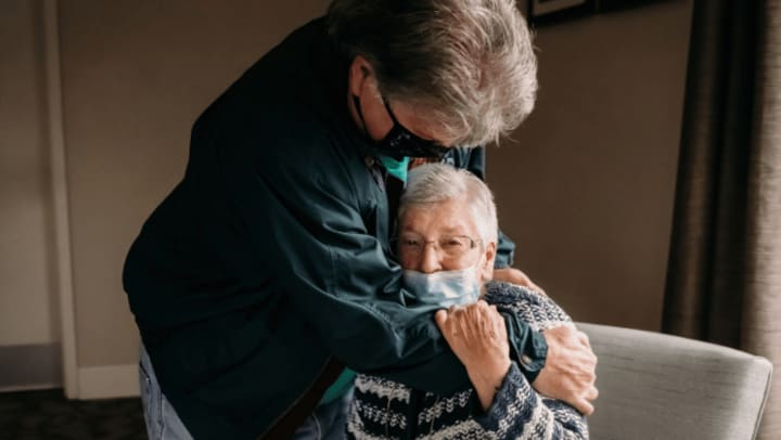 Castro Valley Resident is Embraced By Her Son