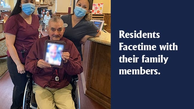 Family using Facetime to visit.