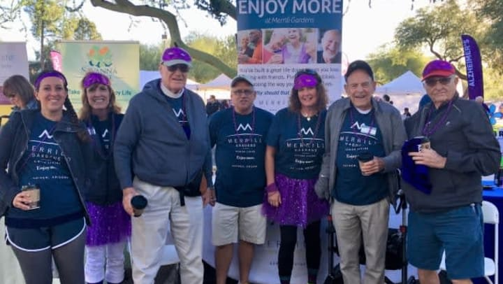 Residents at the Santa Maria Walk to End Alzheimer