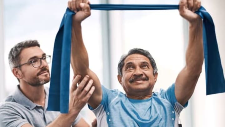 Strength Training at Quail Park of Lynnwood in Lynnwood, Washington