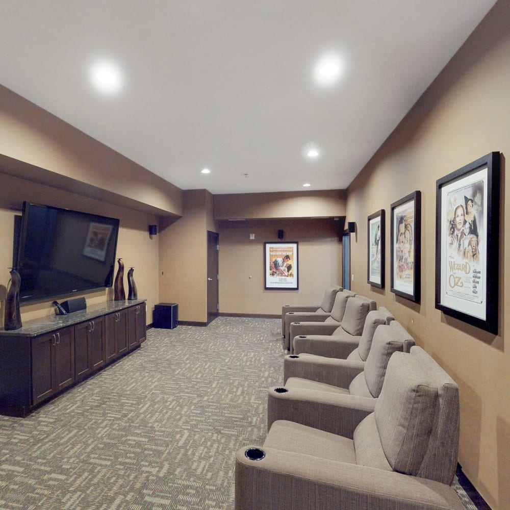 Theater room at Oaks Station Place in Minneapolis, Minnesota