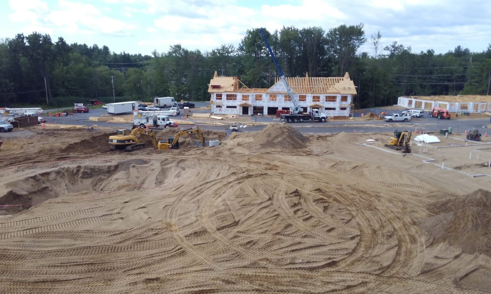Another view of the construction site at Enclave 50 in Ballston Spa, New York