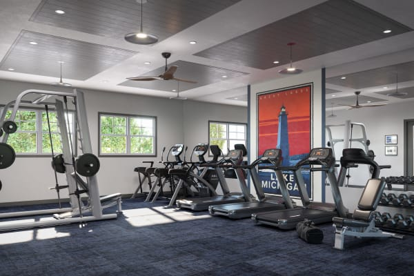 Fitness center at Chelsea Park West in Traverse City, Michigan