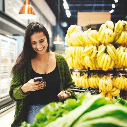 Woman shopping in La Vergne, Tennessee near Cedar Ridge