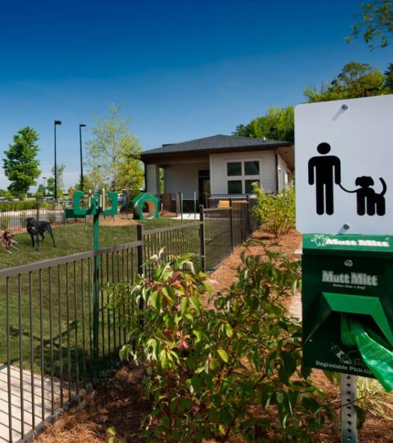 Onsite bark park at Perimeter Lofts in Charlotte, North Carolina