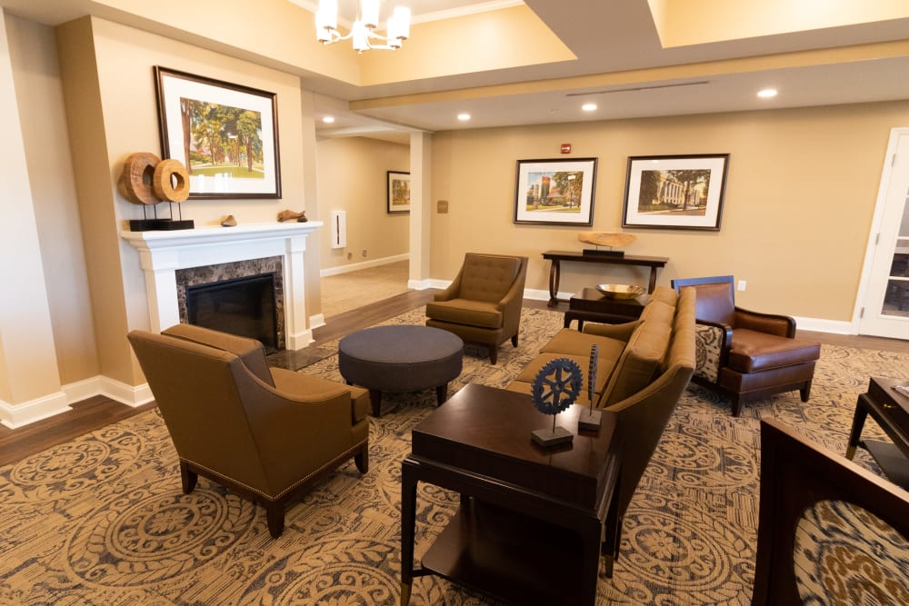 Lobby at Harmony at State College in State College, Pennsylvania