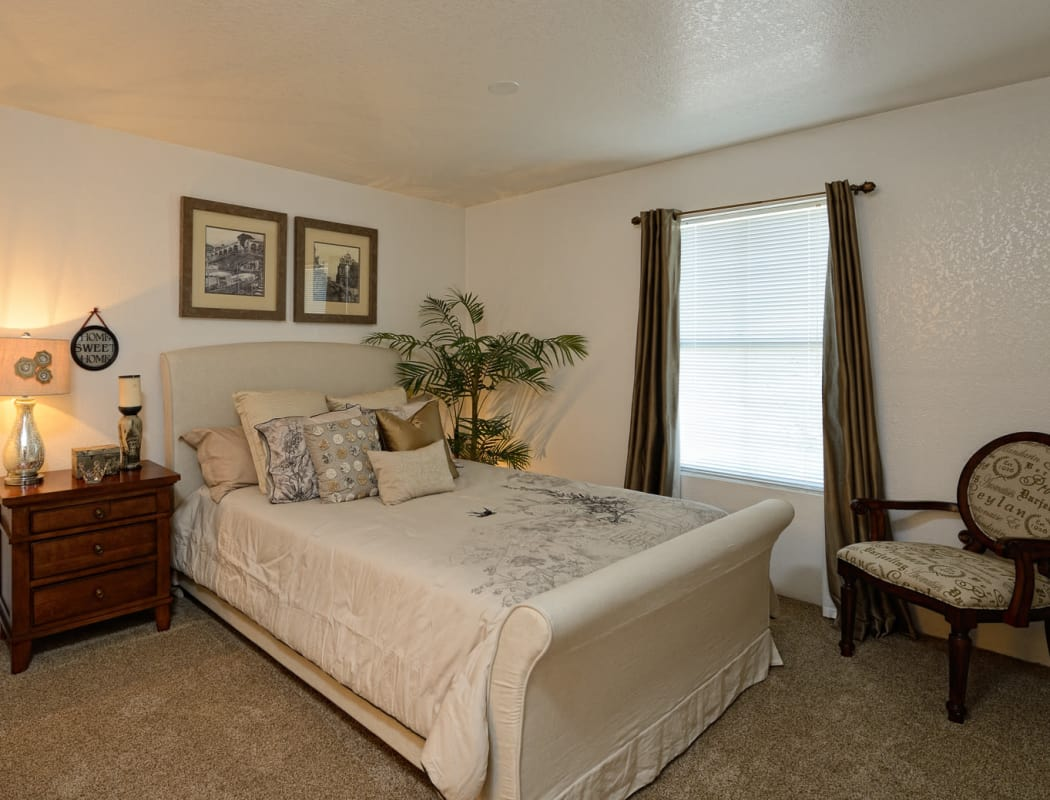 Bedroom at Acacia Park Apartments in El Paso, Texas
