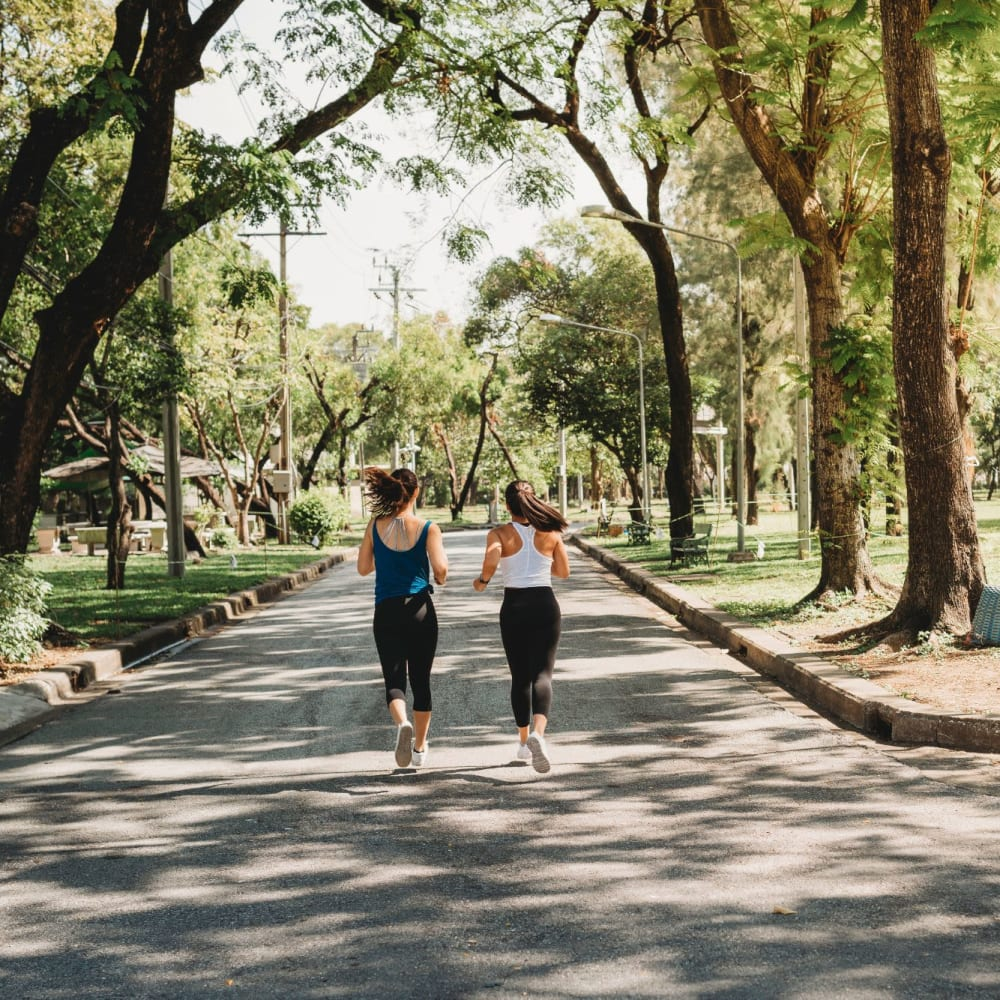 Taking a jog near Palmetto Place in Fort Mill, South Carolina