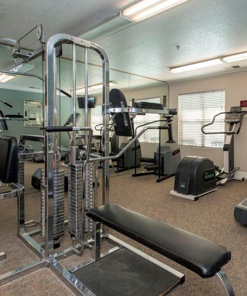 Fitness center at Sandpiper Village Apartment Homes in Vacaville, California