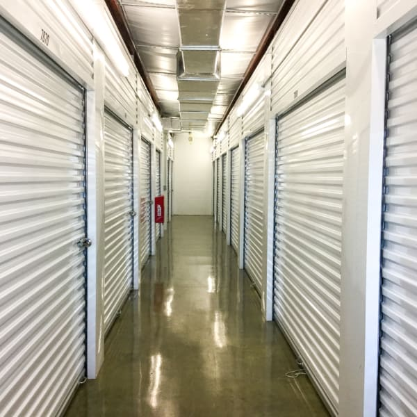 Interior units at at StorQuest Self Storage in Friendswood, Texas