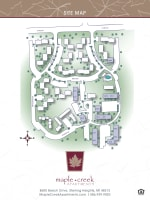 Site map for Maple Creek Apartments in Sterling Heights, Michigan