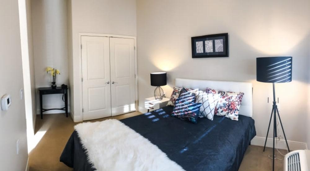 Spacious memory care bedroom at Patriots Landing in DuPont, Washington.