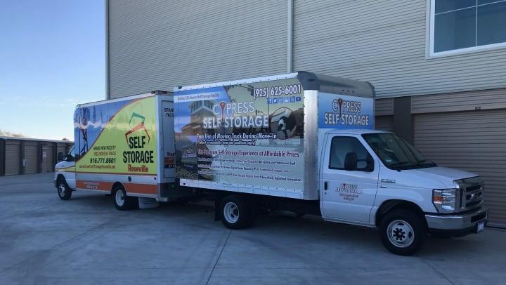 Cypress Self Storage Free Moving Trucks Oakley